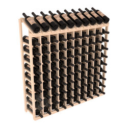 Wine Racks America - 100 Bottle Display Top Wine Rack, (Unstained) - Make your top 10 vintages focal points of your cellar or store. Our wine cellar kits are constructed to industry-leading standards. You'll be satisfied. We guarantee it. Display top wine racks offer ample storage below a presentation row. Great as a stand alone unit or paired with other modular racks from our product lineup.