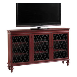 Henry Link - Henry Link Moulin Rouge Media/Bookcase Cabinet in Antique Scarlet - Henry Link - Bookcases - 0140111002 - About This Product: