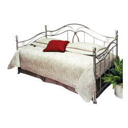 Hillsdale Furniture - Hillsdale Milano Daybed - A very flexible design that fits either in a contemporary or traditional environment. Pretty center casting captures matching oval arches with the inner arch of rope design. Antique pewter finish process includes five cleaning steps to insure proper adhesion and a triple electro-plating process.