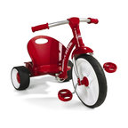 Radio Flyer - Radio Flyer Grow N Go Flyer Big Wheel Riding Toy - 470 - Shop for Tricycles and Riding Toys from Hayneedle.com! The Radio Flyer Slider Rider looks fast even when it's sitting still. The speed-bike rubber front wheel looks cool and the contoured seat and low-profile all-steel frame keep your kid secure even on the wildest ride. Your child will never get tired of it so the frame is adjustable to grow for years of squealy fun. Fat rear tires look tough. There's even a small trunk in the back so your child can take favorite toys for a spin.About Radio FlyerLike the Original Red Wagon that lent the company its name Radio Flyer has become an American classic. From humble beginnings Radio Flyer has been rediscovered with each new generation - creating a legacy of toys that continue to spark the imagination.For over 90 years millions of children have played with Radio Flyer wagons launching countless voyages of imagination. Their beauty simplicity and standards of safety encourage adventure discovery and the wonders of childhood. As the new millennium gains momentum Radio Flyer is still in the driver's seat - creating tomorrow's innovative products with the same classic quality and sheer sense of play that have been their trademarks from the beginning.Radio Flyer wagons are truly icons of Americana.