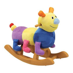 Fifthroom - Plush Carly Caterpillar Rocker - Carly is adorable and just the right size for your toddler.  Her soft cover is easily cleaned with mild soap and water.