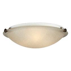 Forte Lighting - Forte Lighting 2199-04 20Wx6H Indoor Flushmount Ceiling Fixture - Traditional / Classic  Indoor Semi-Flushmount Ceiling Fixture