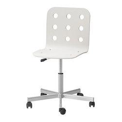 Nicholai Wiig Hansen - JULES Swivel chair - Swivel chair, white, silver color