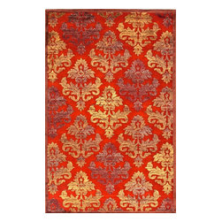 Jaipur Rugs - Machine Made Floral Pattern Art Silk/ Chenille Red/Yellow Area Rug (7.6 x 9.6) - Every design tells a story with the Fables Collection. This broad range, crafted in machine-tufted viscose & ultra-soft chenille, brings any space to life with its fashion-forward color palettes. With options suited to many styles and aesthetics, Fables brings together a diverse collection of patterns ranging from sophisticated transitional to boldly scaled contemporary.