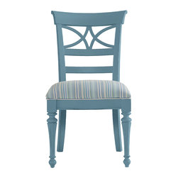 Stanley Furniture - Coastal Living Cottage Sea Watch Side Chair - Wave Finish - Combine a filigree back and chamfered legs and you've got reason to sit a little longer. Features a cushioned seat in your choice of five fabrics. Made to order in America.