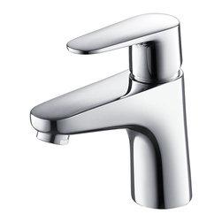 Fresca - Fresca Diveria Single Hole Mount Bathroom Vanity Faucet - Chrome - Fresca Diveria Single Hole Mount Bathroom Vanity Faucet - Chrome