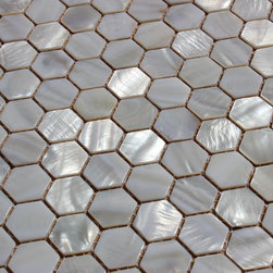 "MATS - ""Whistling Oyster"" Mother Of Pearl White Shell Mosaic Backsplash Tile - Italian 1st Quality Designer Shell Mosaics"