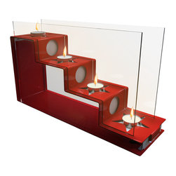 Decorpro - Freedom Tea Light Holder In a Red/White Finish - Give yourself the Freedom to have fun. Freedom two toned tea light candleholder does just that. Bright red with white contrasting stars makes for a great party centerpiece. Great for the 4th of July celebrations! Can be used both landscape or portrait positions on the table.