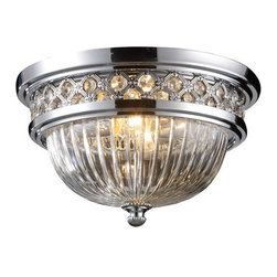 Elk Lighting - Elk Lighting 11225/2 Two Light Flushmount Ceiling Fixture from the Flushmount Co - Two light flushmount ceiling fixture from the flushmount collectionThe flush mounts collection exhibits the same beautiful detailing as a chandelier, but in a smaller size suitable for lower ceilings and smaller spaces.  Each item has an attractive banding on top with white satin glass and a decorative finial.  Choose from various styles and finishes to match your d�cor.Features :
