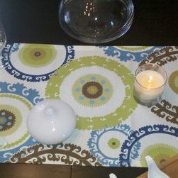 Medallions Table Runner - Three Medallion Table Runners. Bold and modern.