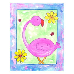 Oh How Cute Kids by Serena Bowman - Pink Flamigo, Ready To Hang Canvas Kid's Wall Decor, 8 X 10 - Each kid is unique in his/her own way, so why shouldn't their wall decor be as well! With our extensive selection of canvas wall art for kids, from princesses to spaceships, from cowboys to traveling girls, we'll help you find that perfect piece for your special one.  Or you can fill the entire room with our imaginative art; every canvas is part of a coordinated series, an easy way to provide a complete and unified look for any room.