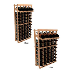 "Wine Cellar Innovations - Five Column with Display Winemaker Series Individual Bottle Kit Wine Rack in Rus - Each wine bottle stored on this five column individual bottle wine rack is individually cradled with a built in display row to show off your wine labels. These wine racks must be mounted 1 1/2"" off the wall to ensure proper wine bottle stability. Assembly Required."
