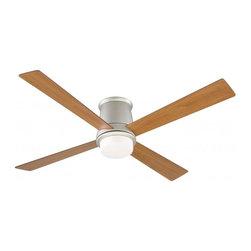 Joshua Marshal - One Light Nickel Hugger Ceiling Fan - One Light Nickel Hugger Ceiling Fan