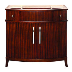"DecoLav - Decolav 5257-MMG Alexandra Vanity in Mahogany - Decolav 5257-MMG Alexandra Vanity in MahoganyDECOLAV's Alexandra 38""Wx21.5""Dx35.25""H Vanity boasts elegance in every way. The lower cabinets suppy plenty of storage space and the upper drawers will give you a tremendous amount of room for all of your toiletries. Making this bathroom collection the perfect fit for any bathroom.Decolav 5257-MMG Alexandra Vanity in Mahogany, Features:&#149 Part of the Alexandra Adrianna Bath Furniture Collection"