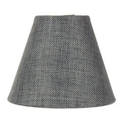 3x5x4 Granite Gray Burlap Lamp Shade - Pleated Clip-on Candlelabra Shade - Home Concept Signature Shades feature the finest premium hardback parchment.