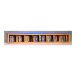 Wood Shed - 52 in. Wall Mount CD Storage (Honey Oak) - Finish: Honey OakOne shelve. Capacity: 106CD's. Made from solid oak. Honey oak finish. 52 in. W x 6.5 in. D x 7.25 in. H