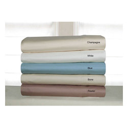Pointehaven - Pima Cotton 600 Thread Count Deep Pocket Sheet Set - This luxurious 600 thread count sheet set by Soft Pima will make you never want to leave your bed again! These 100 percent Pima cotton sheets are wonderfully soft and conveniently machine washable,making them a great choice for any bedroom.