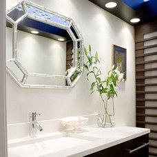 Contemporary Powder Room by Ramos Design Build Corporation - Tampa