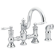 traditional kitchen faucets by Moen