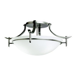 Kichler Lighting - Kichler Lighting - 3606AP - Olympia - Three Light Semi-Flush Mount - The Olympia Collection brings a modern twist on the classic aesthetic to create a new form the likes of which has not been seen before.