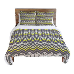Arcturus Chevron Duvet Cover, Twin