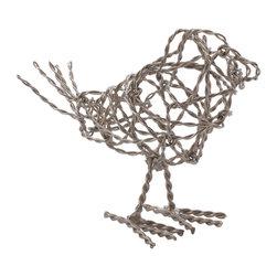 Lazy Susan - Nickel Scribble Small Bird - Nickel Scribble Small Bird