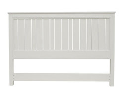 EuroLux Home - New King Bed White/Cream Painted Hardwood - Product Details