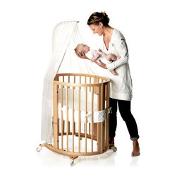 STOKKE SLEEPI Crib-Bed - Instantly recognizable, the circular shape of this crib creates a unique and modern nursery environment for you and your child.