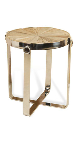 Interlude - Monaco Side Table - If you're in need of a small table that screams sophistication, you've found it. With clean lines and lovely nickel, it exudes elegance and will immediately upgrade any room.