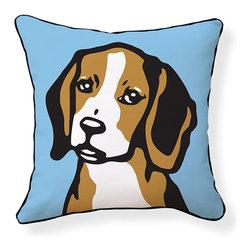 "Naked Decor - Beagle Pillow - Size: 18""x18"""