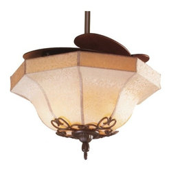 Air Shadow Ceiling Fan with Fabric Shade