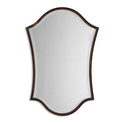 Distressed Bronze Mirror with Burnished Edges - Distressed Bronze Mirror with Burnished Edges