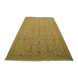 1800-Get-A-Rug - Flat Weave Hand Woven Touch Of Green Soumak Oriental Rug Sh7111 - About Flat Weave