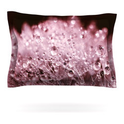 """Kess InHouse - Monika Strigel """"Marsala Dandelion Diamonds"""" Red Pink Pillow Sham (Cotton, 40"""" x - Pairing your already chic duvet cover with playful pillow shams is the perfect way to tie your bedroom together. There are endless possibilities to feed your artistic palette with these imaginative pillow shams. It will looks so elegant you won't want ruin the masterpiece you have created when you go to bed. Not only are these pillow shams nice to look at they are also made from a high quality cotton blend. They are so soft that they will elevate your sleep up to level that is beyond Cloud 9. We always print our goods with the highest quality printing process in order to maintain the integrity of the art that you are adeptly displaying. This means that you won't have to worry about your art fading or your sham loosing it's freshness."""
