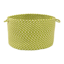 None - Color Market Lime Colored Basket - Function meets form in this beautiful lime utility basket from Color Market. Crafted from durable polypropylene,the basket features a pinwheel construction,two handles,and a deep storage area that is ideal for blankets,magazines,or pillows.