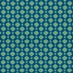 Schumacher - Betwixt Fabric, Peacock/Seaglass - 2 Yard Minimum Order