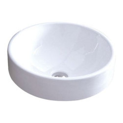 "Kingston Brass - Zen Vitreous White China Vessel Bathroom Sink without Overflow Hole EV4254 - This tabletop vessel sink features a unique bowl-shaped architecture bringing form and function to your bathroom. The round 16"" inner basin is convenient and accessible for containing large amounts of water while washing. Made from vitreous china material, the body work of the sink is sleek and exceptionally durable for long-lasting use.Manufacturer: Kingston BrassModel: EV4254UPC: 663370055119Product Name: White China Vessel Bathroom Sink without Overflow HoleCollection / Series: Zen Vitreous Finish: WhiteTheme: Contemporary / ModernMaterial: CeramicType: SinkFeatures: Tabletop mount"