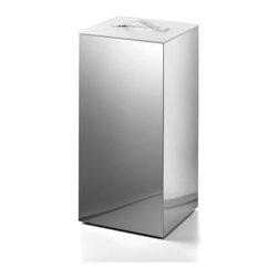 WS Bath Collections - Secioni 53432.09 Laundry Basket - Secioni by WS Bath Collections Laundry Basket 12.0 x 12.0 x 24.0 in Stainless Steel with Lid in Leather White
