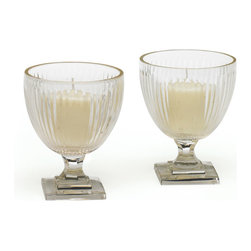 Go Home - Palm Hurricanes-Set Of 4 - Palm Hurricanes is amazingly crafted with glass and has hand cut finish.The decorative candles catalog includes offerings that appeal to diverse sensibilities.Sold as set of 4.