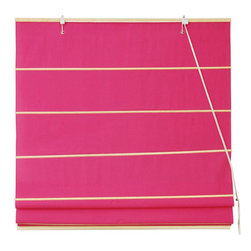Oriental Furniture - Cotton Roman Shades - Pink 72 Inch, Width - 72 Inches - - These Pink colored Roman Shades combine the beauty of fabric with the ease and practicality of traditional blinds.  They are made of 100% cotton and are available in seven other stylish colors.   Easy to hang, easy to open and close.  Also available in Cream, Yellow Cream, Light Green, Light Brown, Dark Green, Black or Red.  Available in five practical sizes, 24W, 36W, 48W, 60W and 72W.  All sizes measure 72 Tall. Oriental Furniture - WT-YJ1-3F-72W