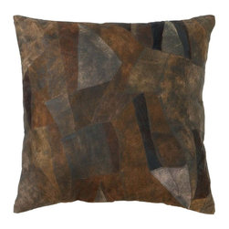 Benzara - Decorative Attractive Real Leather Pillow with Creative Tough Stitch - Express your personality through your home decor with this exquisite real leather pillow. This elegant pillow epitomizes style and royalty. The leather surface retains the texture and color of animal skin making it extremely warm and comfortable in use. It features a beautifully designed leather surface that involves separate pieces of leather stitched together carefully to flaunt a distinct charm and true craftsmanship. This beautiful pillow is crafted from genuine quality real animal leather which makes it exclusively rare in availability of pillows. Crafted from genuine leather, this pillow is stuffed with the softest variety of cotton that makes sure it stays in best shape for a longer period. The versatile nature of leather makes this pillow readily adaptable. It is sure to increase the comfort level of your furniture too..