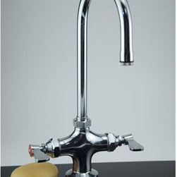 Premier Commercial Heavy-Duty Pantry Faucet - Chrome - This durable pantry faucet features a nice tall gooseneck spout. Quarter-turn ceramic disks give you the peace of mind knowing this faucet will stand up to heavy traffic.