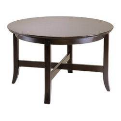Winsome Wood - Toby Coffee Table - Our Toby Coffee Table that comes in slightly flared legs and rich dark espresso finish, will enrich any living room, bedroom or entry. This table is made up of solid and composite wood.