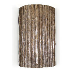 """A19 Lighting - Twigs Wall Sconce - Like Relaxing In A Cottage By The Lake, This Twigs Design Is Charmingly Rustic. Each Fixture Is Individually Crafted In Durable And Corrosion Resistant Ceramic And Painted By Hand To Strikingly Resemble Real Wood. Open On Both Ends, Light Washes The Wall Adding To The Ambiance Of Any Setting Indoors Or Out.Height:10Width:6Depth:4Mounting Center:5Bulb Type:100 Watt Medium Base A19 E26 BaseNumber Of Bulbs:1American-Made Mosaic Wall Sconce.Resistant To Rust And Corrosion.Suitable For For Damp Locations (Indoor And Outdoor).Ada Compliant (Americans With Disabilities Act 4"""" Regulation For Public Walks And Corridors)Due To The Handmade Nature Of A19 Products, It Is Not Unreasonable To Expect Slight Differences From Item To Item."""