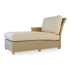 Lloyd Flanders Hamptons Right-Arm Chaise Lounge - The Hamptons collection Right-Arm Chaise combines durability and beauty for your pool or deck area. Available in 29 custom finishes. Dimensions: 35.5 W.