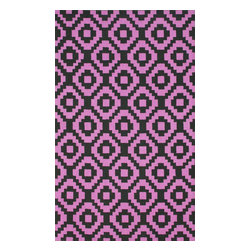 nuLOOM - Contemporary 5' x 8' Pink Hand Hooked Area Rug Trellis HK85 - Made from the finest materials in the world and with the uttermost care, our rugs are a great addition to your home.
