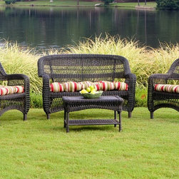 Portside 4 piece WIcker Seating Set -