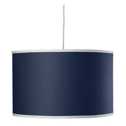 Oilo - Solid Large Cylinder, Cobalt Blue - The classic drum shade works beautifully in most spaces. It can pull in a needed pop of color while ensuring a soft glow to any part of your room. A white acrylic sheet diffuses the light, and a 55-inch cord allows you maximum flexibility in adjusting to your desired height. You really can't go wrong with this iconic light.