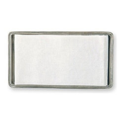 Match Pewter - Guest Towel Tray by Match Pewter - Handmade in northern Italy, each piece bears a stamped symbol from the region in which it was made.