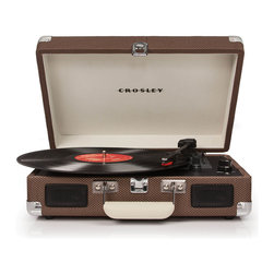 Crosley - Cruiser Portable Turntable - Dimensions: 14 x 11 x 5 inches